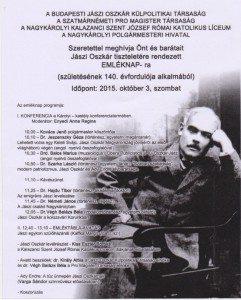 Az emléknap plakátja